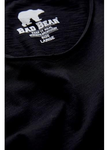 Bad Bear Erkek Tişört V-Neck 180107012-Wht Siyah